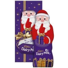 Cadbury Gift Chocolate Hollow Santa Gift 175g (Box of 8)