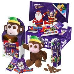 Cadbury Christmas Buttons Monkey Toy Gift