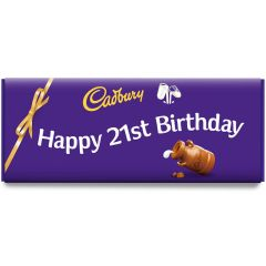 Happy 21st Birthday Dairy Milk Bar (850g)