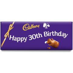Happy 30th Birthday Dairy Milk Bar (850g)