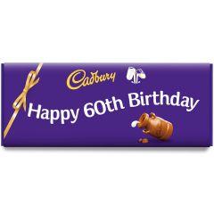 Happy 60th Birthday Dairy Milk Bar (850g)