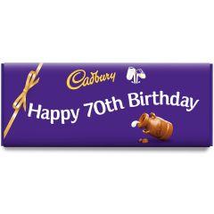 Happy 70th Birthday Dairy Milk Bar (850g)