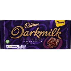 Cadbury Darkmilk Crunchy Cocoa Pieces 85g