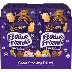 Cadbury Festive Friends Biscuits 150g (Box of 12)