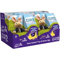 Peter Rabbit Toy & Dairy Milk Easter Egg (Box of 6)
