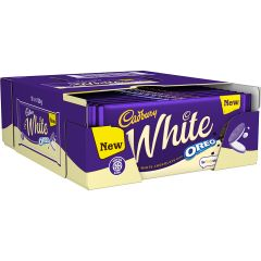 Cadbury White Oreo Bar 120g  (Box of 17)