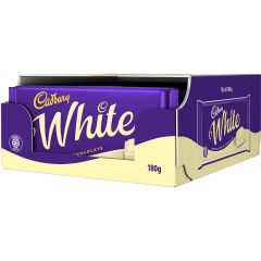 Cadbury White Chocolate Bar 180g (Box of 18)