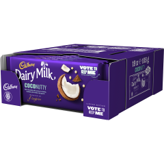 Cadbury Dairy Milk Coconutty Bar 105g (Box of 19)