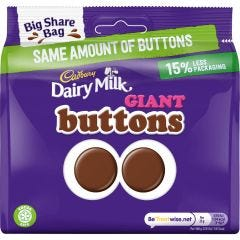 Dairy Milk Giant Buttons Bag 240g