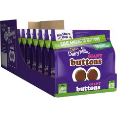 Dairy Milk Giant Buttons Bag 240g (Box of 10)