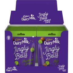 Cadbury Dairy Milk Jingly Bells Hazelnut Creme Chocolate Bag 82g (Box of 16)