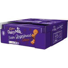 Cadbury Dairy Milk Winter Gingerbread Edition Bar (Box of 17)