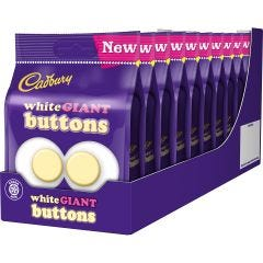 Cadbury Giant White Buttons Bag 110g (box of 10)