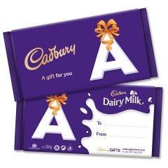 Monogram 'A' Dairy Milk Gift Bar (200g)