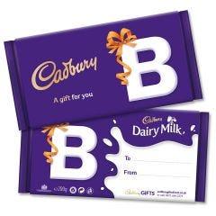 Monogram 'B' Dairy Milk Gift Bar (200g)