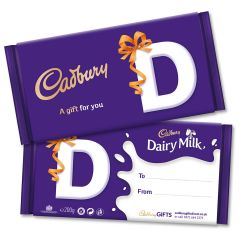 Monogram 'D' Dairy Milk Gift Bar (200g)
