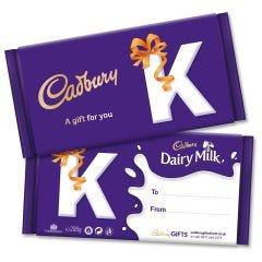 Monogram 'K' Dairy Milk Gift Bar (200g)