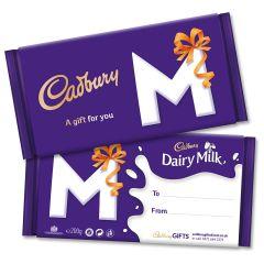 Monogram 'M' Dairy Milk Gift Bar (200g)