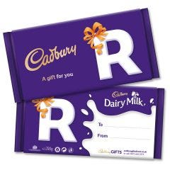 Monogram 'R' Dairy Milk Gift Bar (200g)