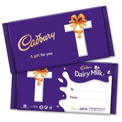 Monogram 'T' Dairy Milk Gift Bar (200g)
