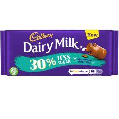 Cadbury Dairy Milk 30% Less Sugar Chocolate Bar 85g
