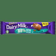 Cadbury Dairy Milk 30% Less Sugar Chocolate Bar 35g