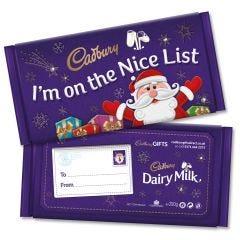 On The Nice List Dairy Milk Gift Bar (200g)