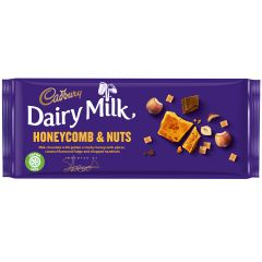 Cadbury Dairy Milk Crunchy Honeycomb & Nuts Bar 105g (Box of 19)