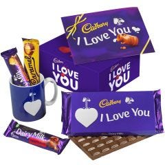I Love You Chocolate & Mug Set