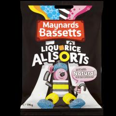 Maynards Bassetts Liquorice Allsorts  Bag 190g