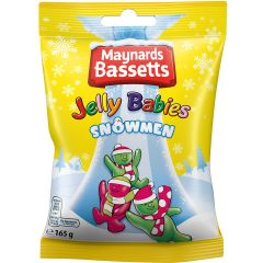Maynards Bassetts Jelly Babies Snowmen Bag 165g