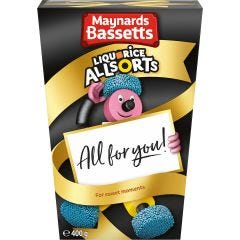 Maynards Bassetts Liquorice Allsorts Carton (400g)