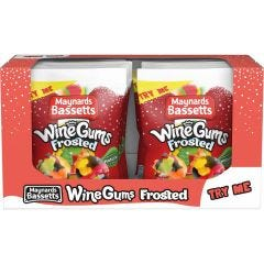 Maynards Bassetts Frosted Wine Gums Bag 165g (Box of 12)