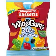 Maynards Bassetts Wine Gums 30% Less Sugar (130g)