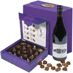 Milk Tray Box & Red Wine Hamper