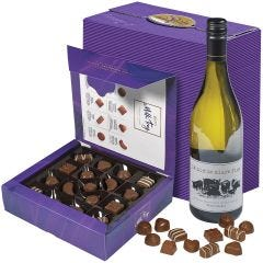 Cadbury Milk Tray & White Wine Hamper