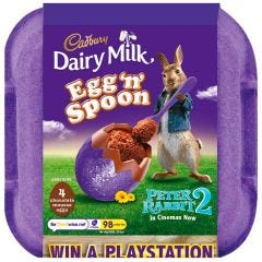 Dairy Milk Egg and Spoon Choc Mousse 136g (Box of 8)