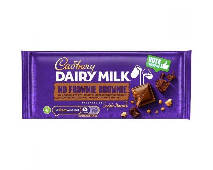 Cadbury Dairy Milk No Frownie Brownie Bar 110g