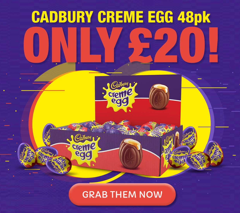 Creme Egg 48 pack - £20 sale