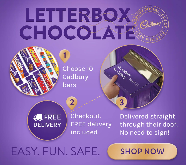 Cadbury Letterbox Bar Gift Box