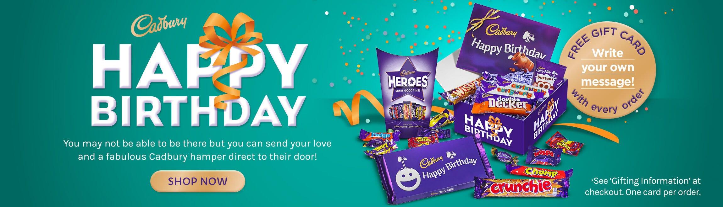 Cabury Chocolate Birthdays Gifts
