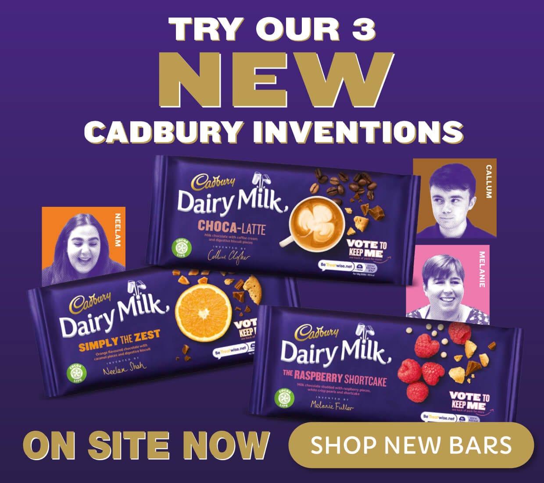 Try New Three Dairy Milk Bars