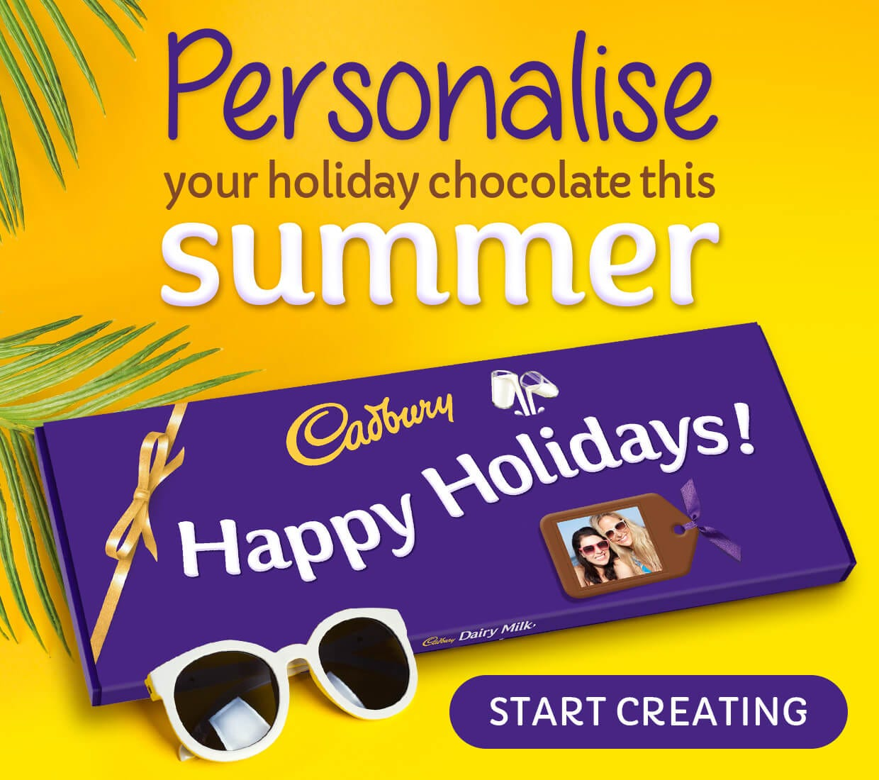 Summer Personalised chcocolate