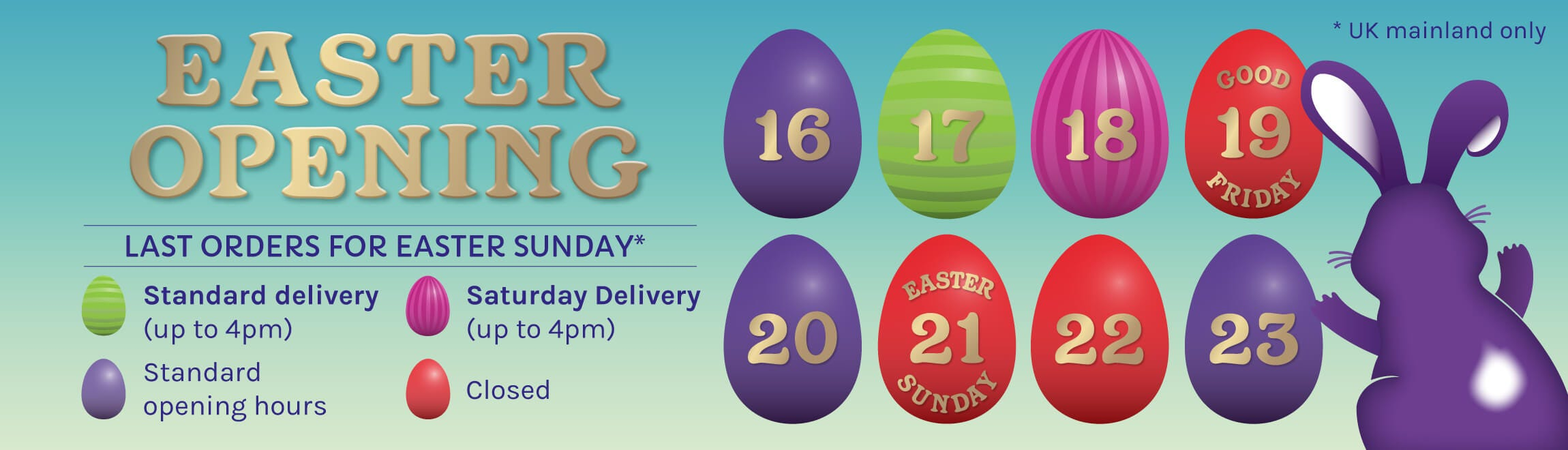 Cadbury Gifts Direct Easter Opening Times