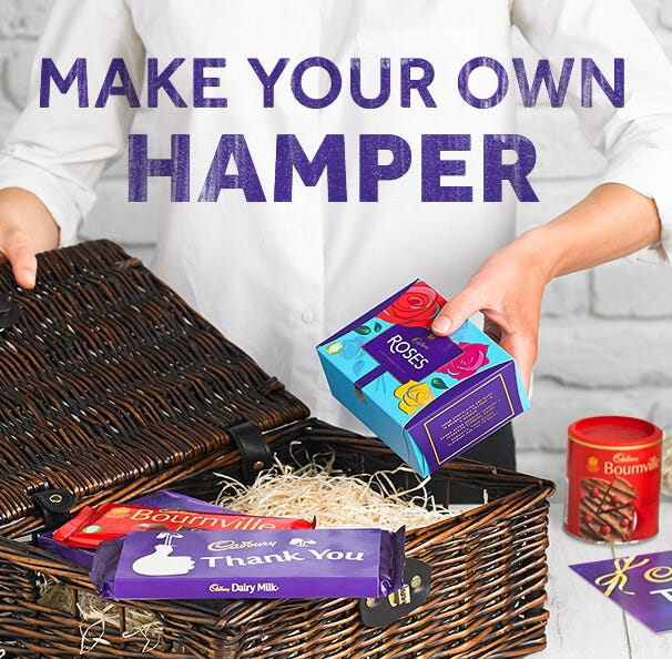 Make your own Cadbury hamper