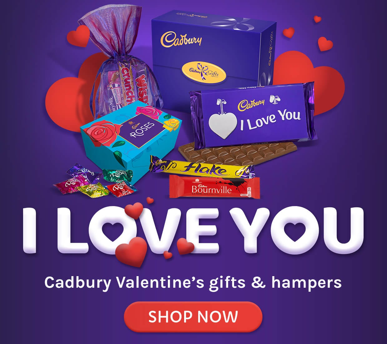 Valentine's Chocolate Hampers and gifts