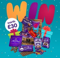 Win one of 10 Cadbury Personalised bars