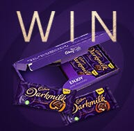 Win one of 10 Cadbury Darkmilk bar collections