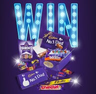 Win one of 10 Cadbury Chocolate Dad's Gifts