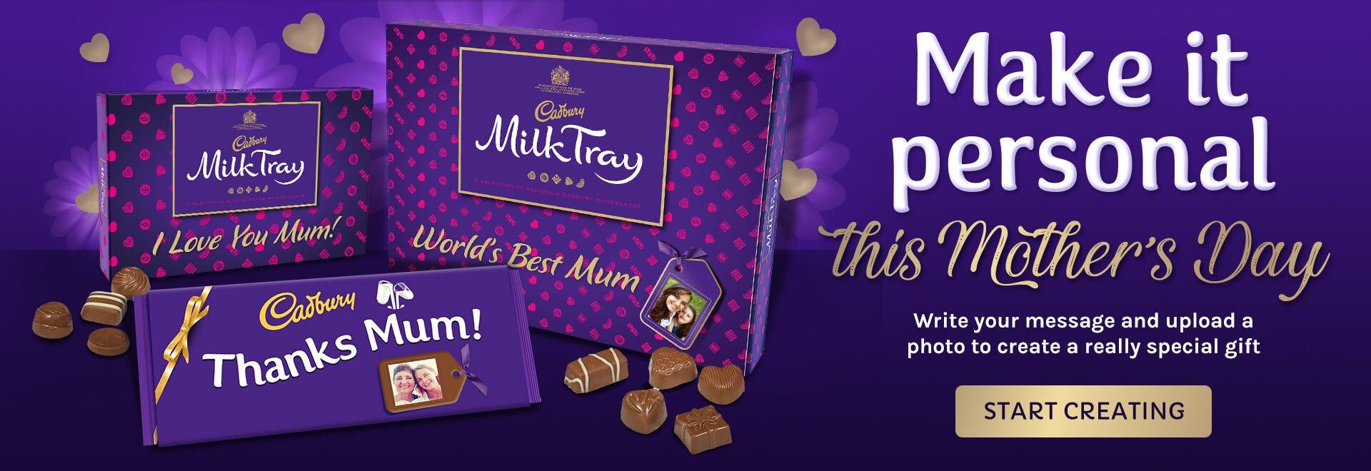 Cadbury personalised chocolate, create something unique